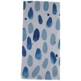 Blue Watercolor Ovals Kitchen Towel