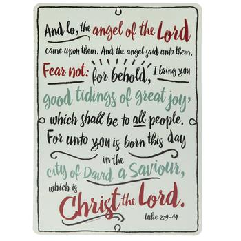 Luke 2:9 Metal Sign
