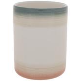 Teal, White & Coral Vase