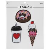 Coffee, Donut & Ice Cream Iron-On Appliques