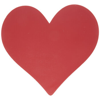 Red Heart Painted Wood Shape