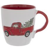 Truck With Christmas Tree Mug