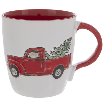 Truck With Christmas Tree Mug