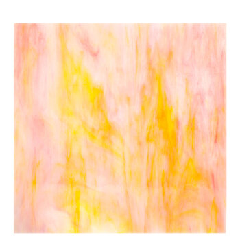 Yellow and White Opal Glass 12 x 12 Sheet 3671 Stained Glass
