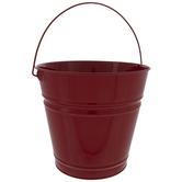 Red Metal Bucket - Large