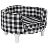 Black & White Buffalo Check Pet Bed