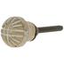 Whitewash Gold Round Metal Knob