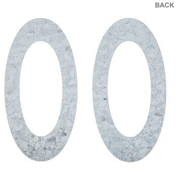 "Galvanized Metal Numbers - 4"""