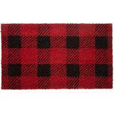 Red & Black Buffalo Check Doormat