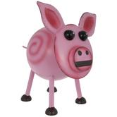Pink Distressed Metal Pig