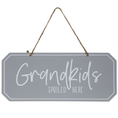 Grandkids Spoiled Here Metal Wall Decor