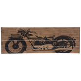 Black Motorcycle Pallet Wood Wall Decor