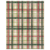"Red & Green Christmas Plaid Scrapbook Paper - 8 1/2"" x 11"""