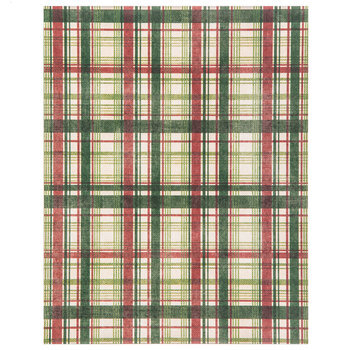 """Red & Green Christmas Plaid Scrapbook Paper - 8 1/2"""" x 11"""""""