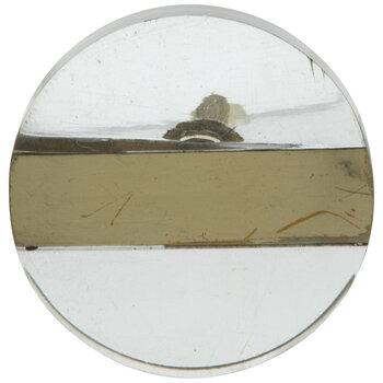 Transparent & Brass Round Knob