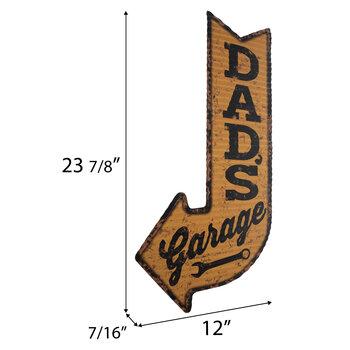 Dad's Garage Arrow Metal Wall Decor