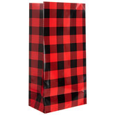 Red & Black Buffalo Check Gift Sacks