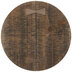 Brown Distressed Round Wood Candle Holder