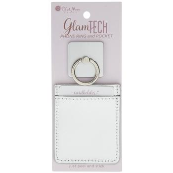 Silver Phone Ring & Pocket