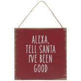 Alexa Tell Santa Ornament