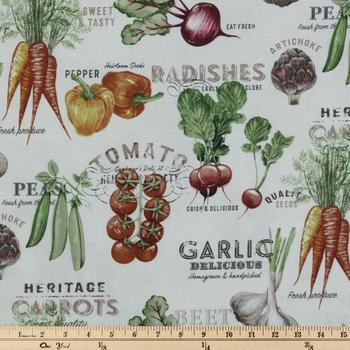 Fresh Vegetables Duck Cloth Fabric