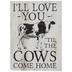 Cows Come Home Wood Decor