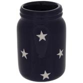 Blue & White Star Jar