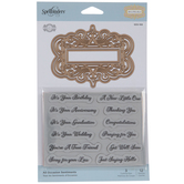Ornate Label & Sentiments Dies & Stamps