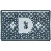 Gray Geometric Tiles Letter Doormat - D