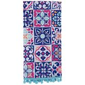 Blue & Pink Tile Kitchen Towel
