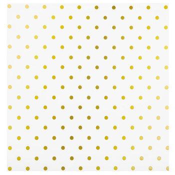 "White & Gold Foil Polka Dot Scrapbook Paper - 12"" x 12"""