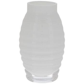 White Ribbed Mini Glass Vase