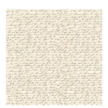 """Black & Cream Script Scrapbook Paper - 12"""" x 12"""""""