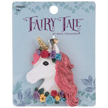 Floral Unicorn Head Pendant