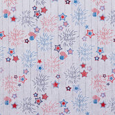 4th Of July Fireworks Cotton Fabric