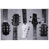 Black & White Guitar Head Canvas Wall Decor