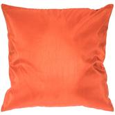 Orange Poly Silk Pillow Cover