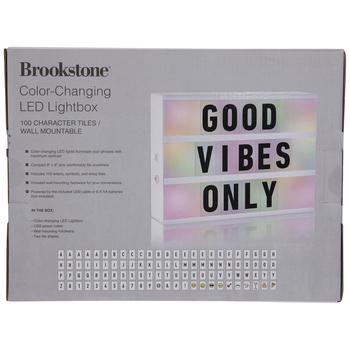 Color Changing LED Light Box Decor