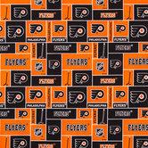 NHL Philadelphia Flyers Block Cotton Fabric