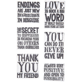 Expressions Clear Stamps