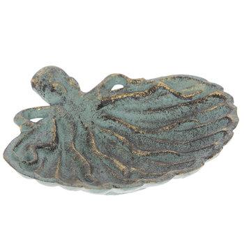 Antique Green Metal Octopus Jewelry Dish
