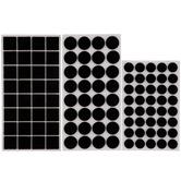 Black Round & Square Felt Pads