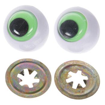 Green Frog Wiggle Eyes - 24mm