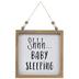Shhh Baby Sleeping Beaded Wood Wall Decor