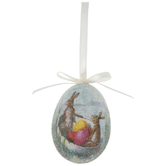Bunnies & Eggs Sugared Egg Ornament