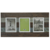Walnut & Gray Striped Wood Collage Wall Frame