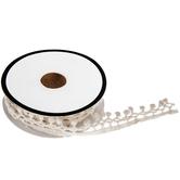 "White Crochet Ball Trim - 1/2"""