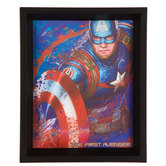 Captain America Lenticular Wood Wall Decor
