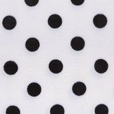White & Black Polka Dot Velvet Fleece Fabric