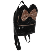 Black & Rose Gold Sequin Minnie Mouse Backpack